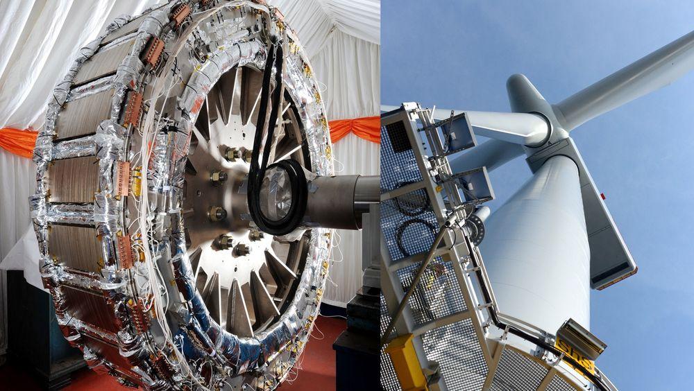 Effektivt: GEs nye generator bruker superledere istedenfor kopper i rotorviklingen, noe som gjør det mulig å produsere veldig mye kraft på liten plass.