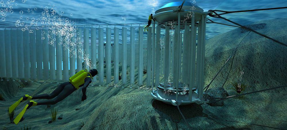 Patentstrid: Aqua Energy Solutions mistenker Tidal Sails' tidevannsteknologi (illustrasjon) for å basere seg på deres patenterte løsninger, noe Tidal Sails avviser på det sterkeste.