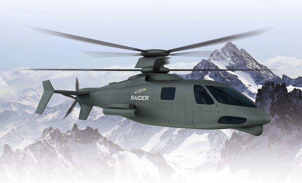 Illustrasjon av S-97 Raider som etter planen skal i lufta første gang i 2015.