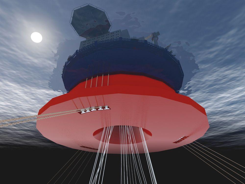 Nye studier: Sevan-konseptet kan bruke stigerør av stål på store havdyp, viser tester.  ill.: Sevan