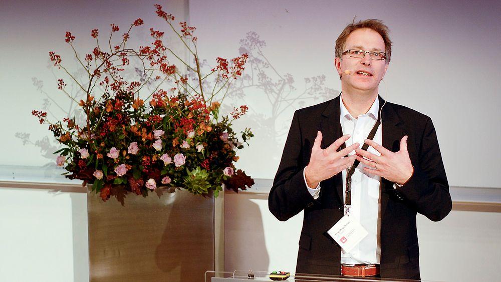 Bremser: En av de få endringene i Statnetts nettutviklingsplan, som konserndirektør Gunnar G. Løvås la fram i dag, er at selskapet tar seg bedre tid med å bygge kraftlinjen til Nord-Norge.