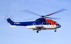 Det var et helikopter av denne typen, AS332L2 fra CHC, som havarerte utenfor Shetland i 2013.