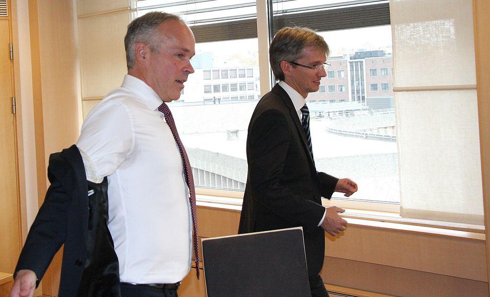 IT-LAGET: Kommunal- og moderniseringsminister Jan Tore Sanner (t.v.) har fått med seg Paul Chaffey som statssekretær på it-området.