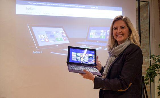 Surface 2:  Microsofts sjef for forbrukersegmentet Surface, Åse Martinsen tror veldig mange vil sette pris på nyheten. Ikke minst alle som vil bruke nettbrettet som spillmaskin med alle X-box-titelene som er tilgjengelig i Microsoft Store.