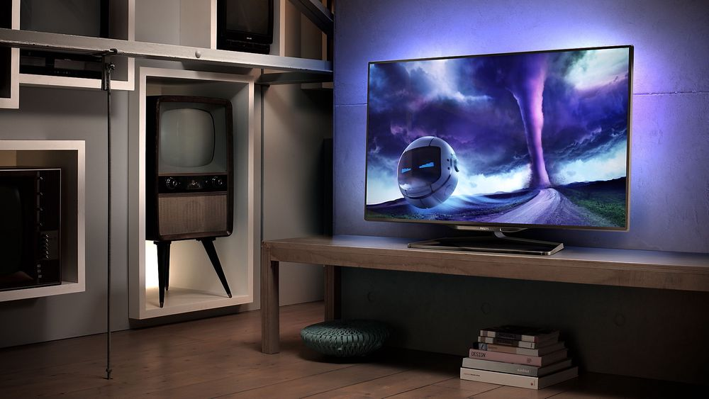 Philips-TV-en kommer med Ambilight.