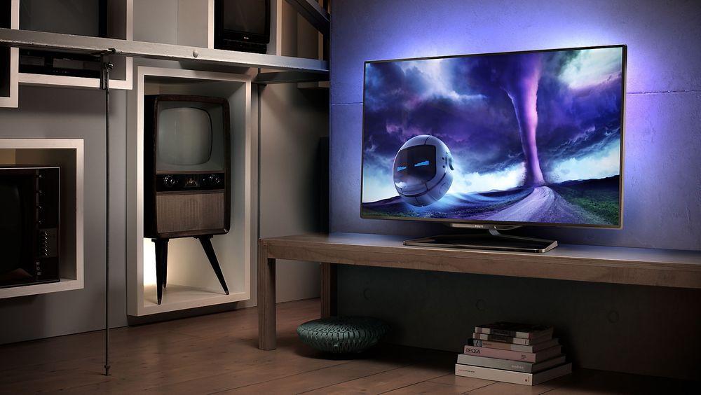Philips-TV-en kommer med Ambilight.