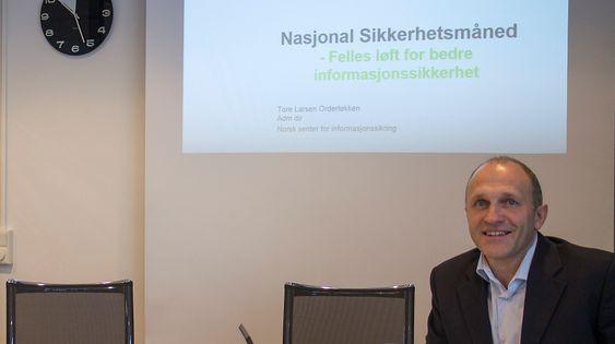 Bedre: Sikkerhetssituasjonen i Norge er bedre på IT-siden, men mange nye trusler dukker opp så det er ingen grunn til å ta en pust i bakken, mener leder i NorSIS, Tore Larsen Orderløkken