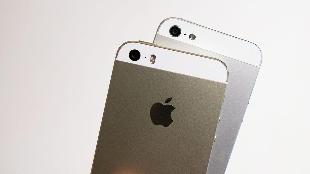 Bestselger: Fem varianter av Iphone ligger på topp 10-lista. Aller mest selger 5S.