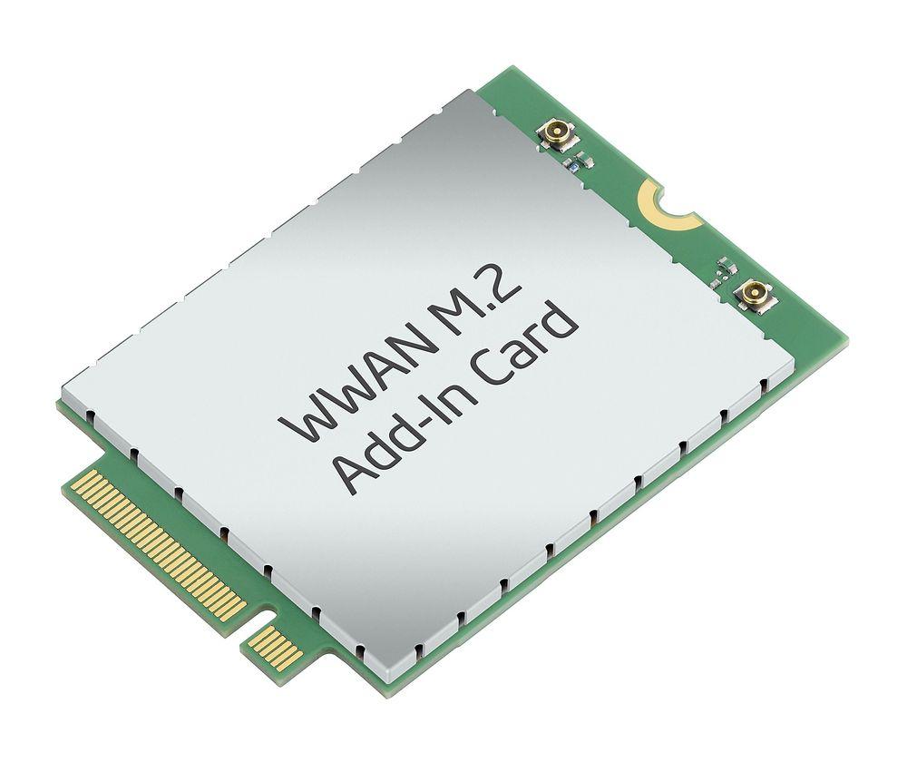LTE i PC-en: Det nye PCIe-kortet fra Intel inneholder den nye multimodus radiobrikken de nå har sluppet og som vil gi støtte for de aller fleste frekvenser og radiostanderer over hele verden.