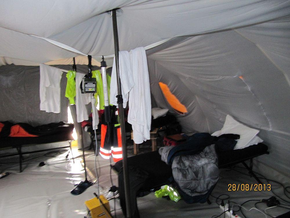 Arbeidere på Hardanger-linjen ble innlosjert i telt
