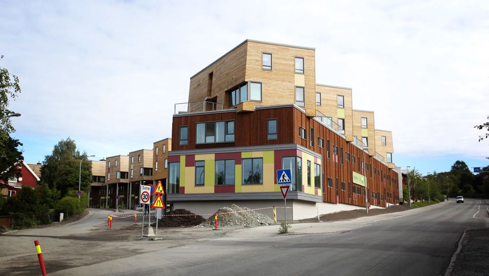 Mange nye søkere til setter press på boligtilbudet i Trondheim. Her Berg studentby.