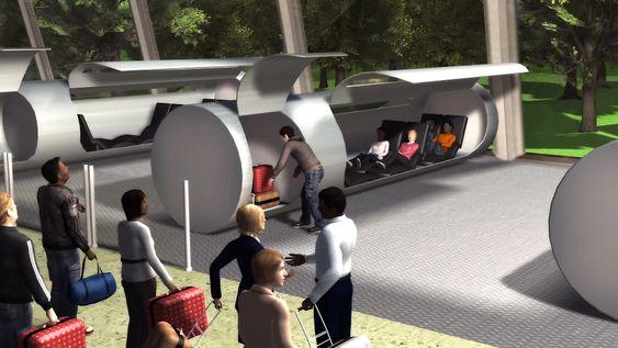 Slik vil kapslene se ut på innsiden. Plass til fire til seks personer samt bagasje.