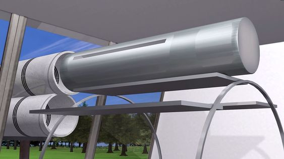 Disse kapslene skal kunne romme fire til seks personer og skytes ut i en hastighet på 6.500 km/t.
