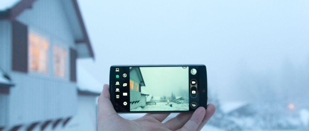 Kameraappen har mange valg. Her kan du styre alt selv, og du kan også få ut filene i råformat.