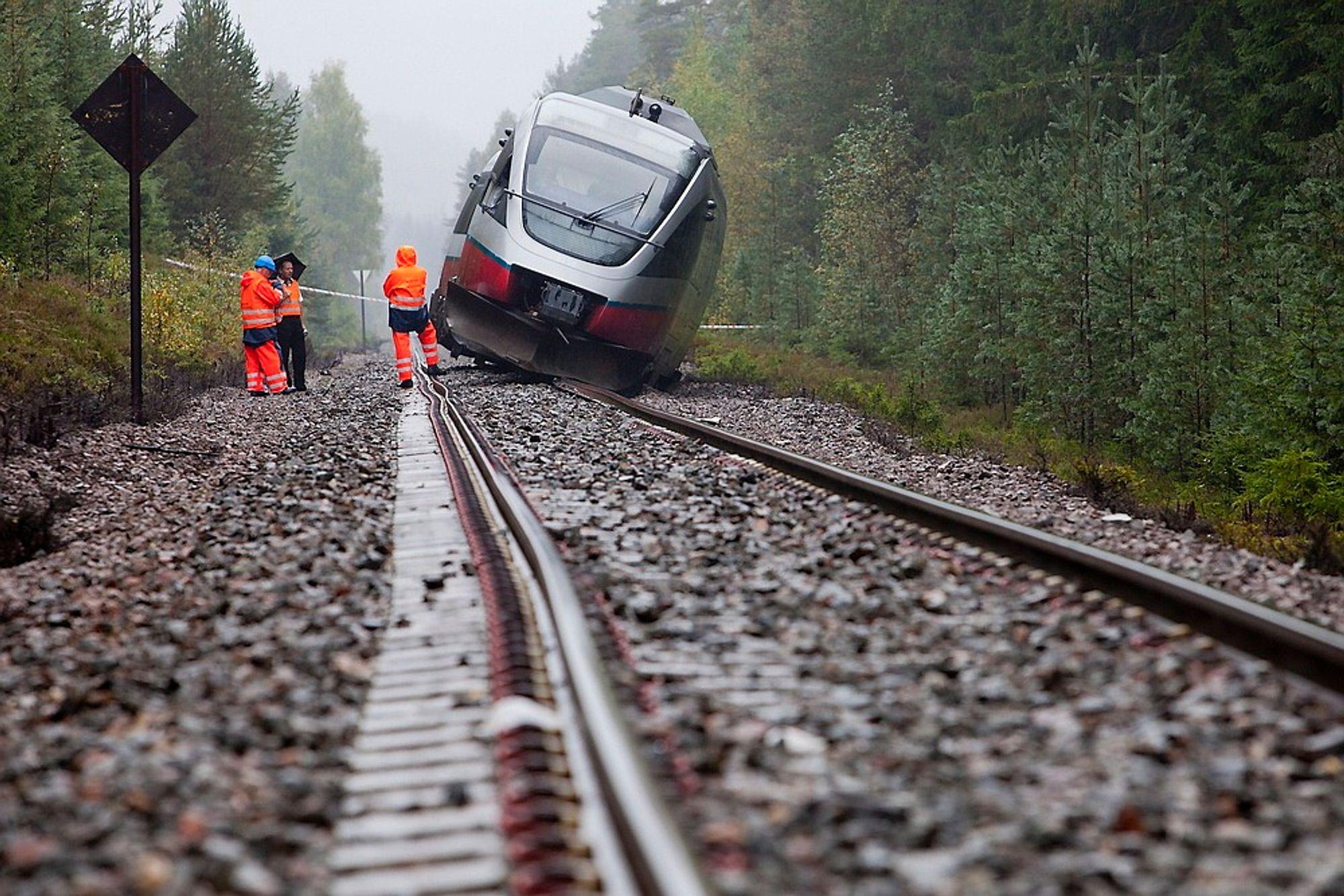 ULYKKEN PÅ RØROSBANEN: Ti personer ble skadet.