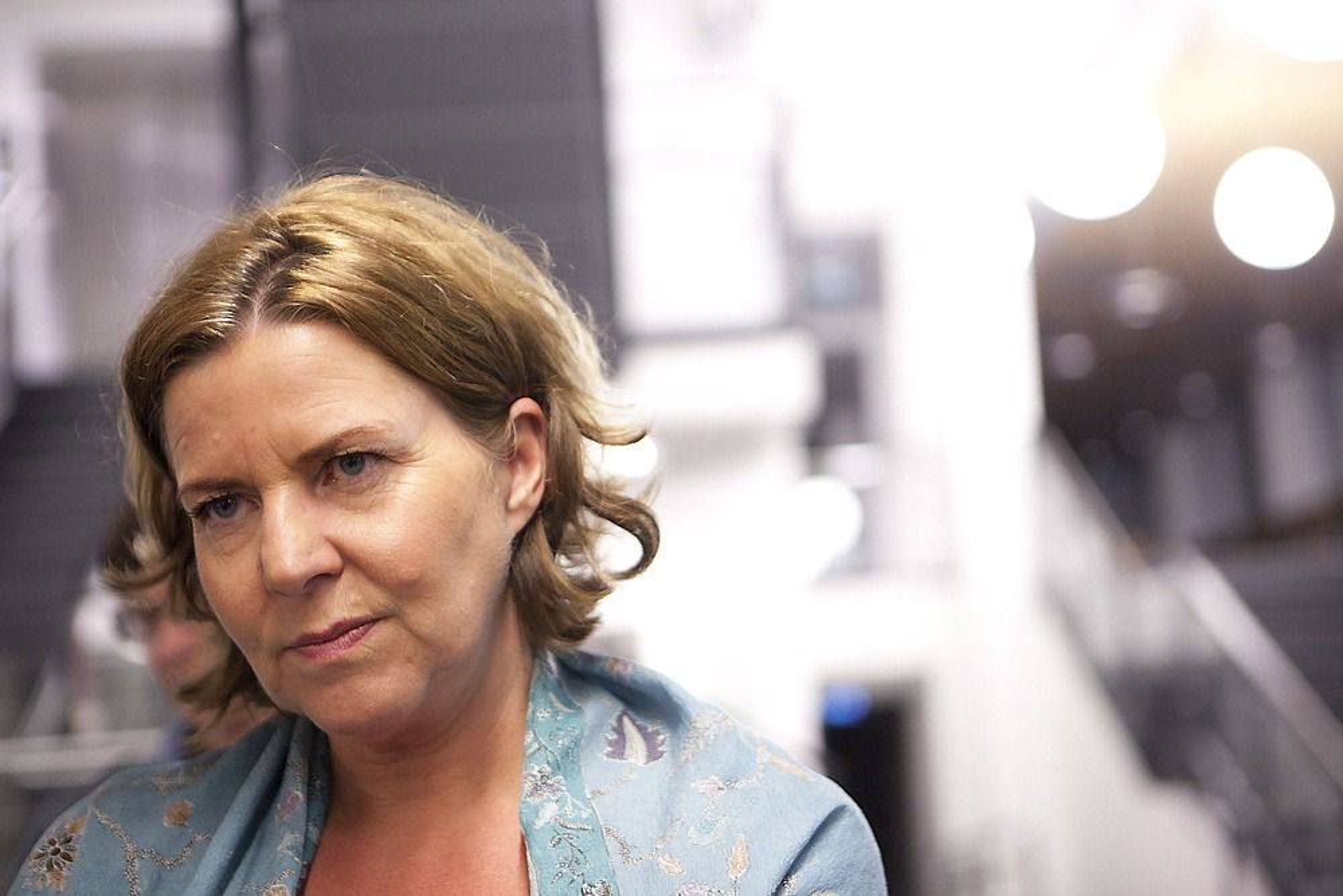 TOK GREP: Arbeidsminister Hanne Bjurstrøm gikk inn med tvungen lønnsnemd i oljekonflikten etter møte med Forbundsleder i Industri Energi, Leif Sande.