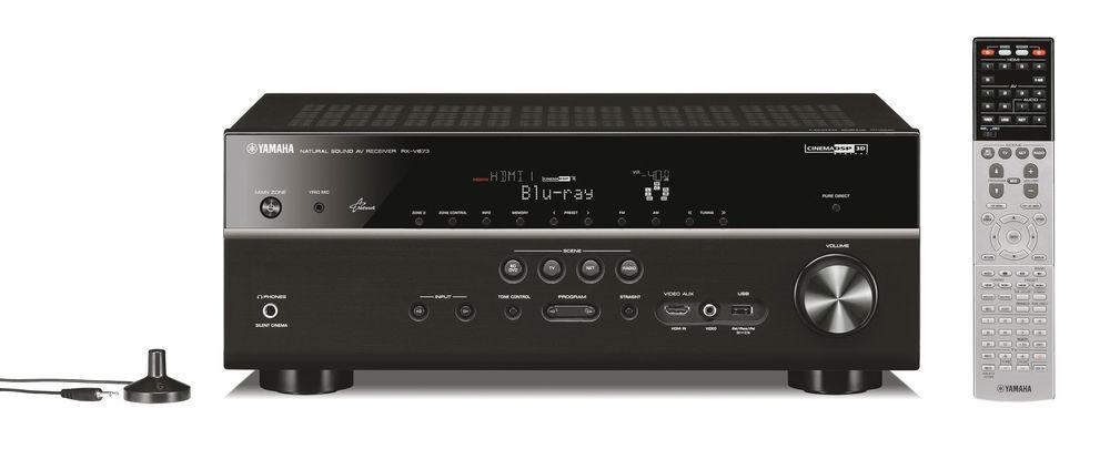 YAMAHA RX-V673: Denne receiveren gir gode opplevelser med både film og musikk, men Yamaha har ikke brukt mye energi på det grafiske grensesnittet. FOTO: Watt