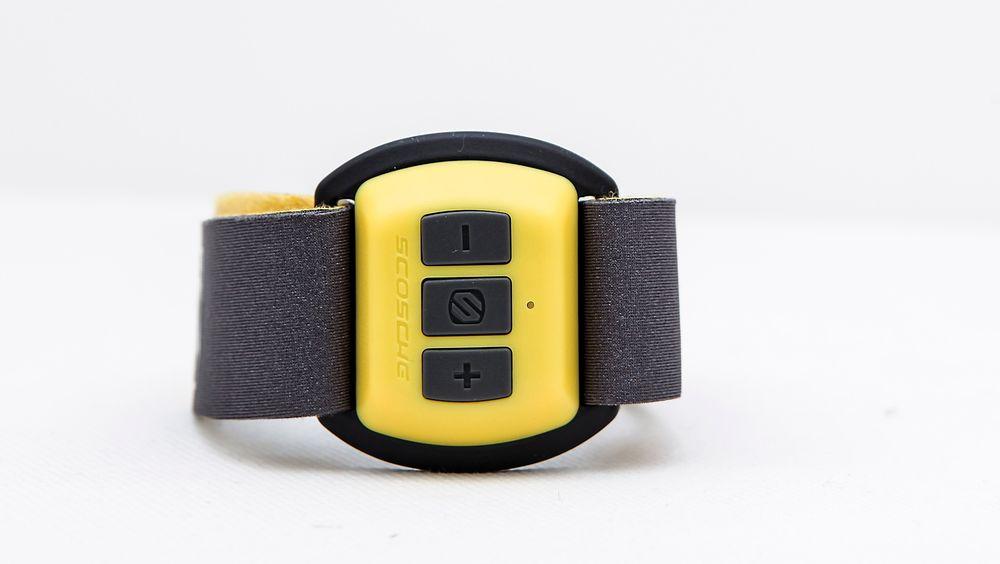 Scosche Rhythm sender pulsdata trådløst fra armbåndet til telefonen.