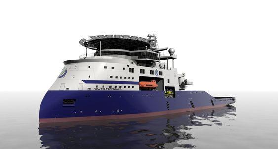 Island-USA: Edison Chouest Offshore og norske Island Offshore samarbeider om et avansert subsea-skip med SX121-design fra Ulstein, der det også skal bygges.