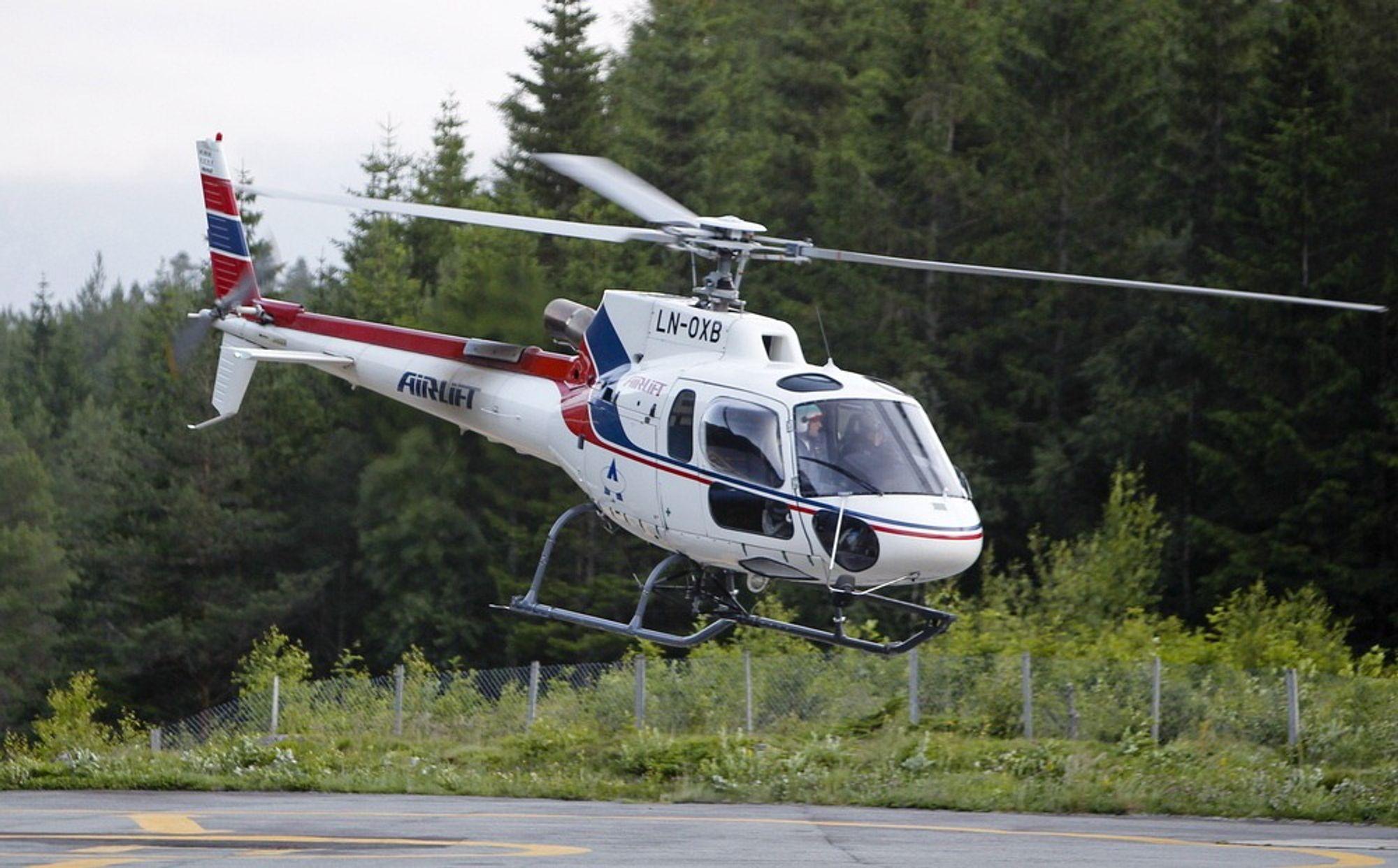 Det var et AIrlift-helikopter av denne typen, Eurocopter AS350 B3, som styrtet i fjellet ved Vassli, mellom Dalamot og Busete i Hardanger for ett år siden.