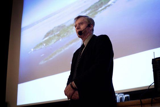 Kunstig øy: Styreleder Bernt Stilluf Karlsen i Oslo Havn.