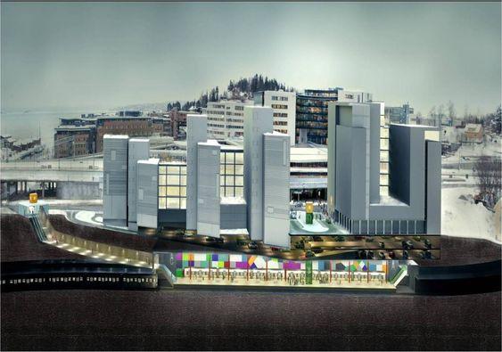 STASJON PÅ FORNEBUBANEN: Norconsult og Ruter forestiller seg at en ny metrostasjon på Lysaker kan se ut slik.