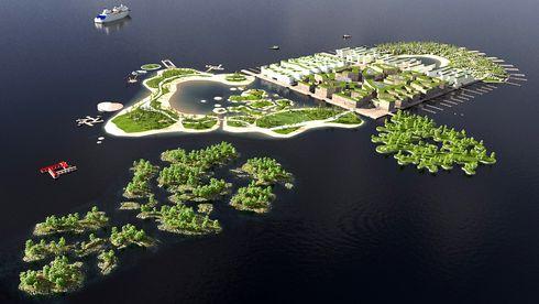 Gøy med kunstig øy
