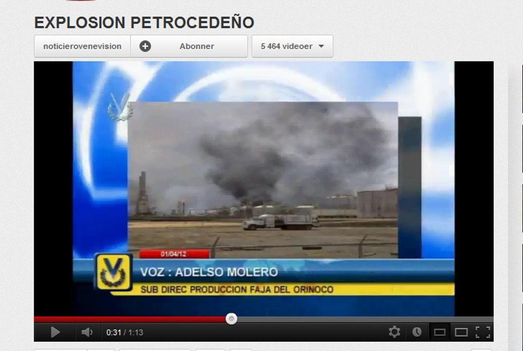 Eksplosjon ved Venezuela-raffineri