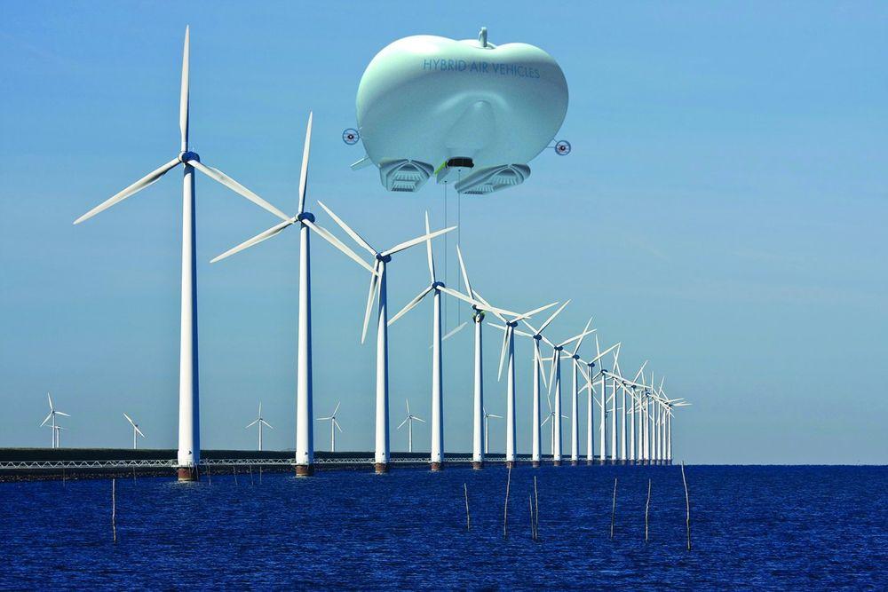 TIL HAVS: Luftskipene skal også kunne brukes til å sette opp vindmøller til havs. FOTO: Hybrid Air Vehicles