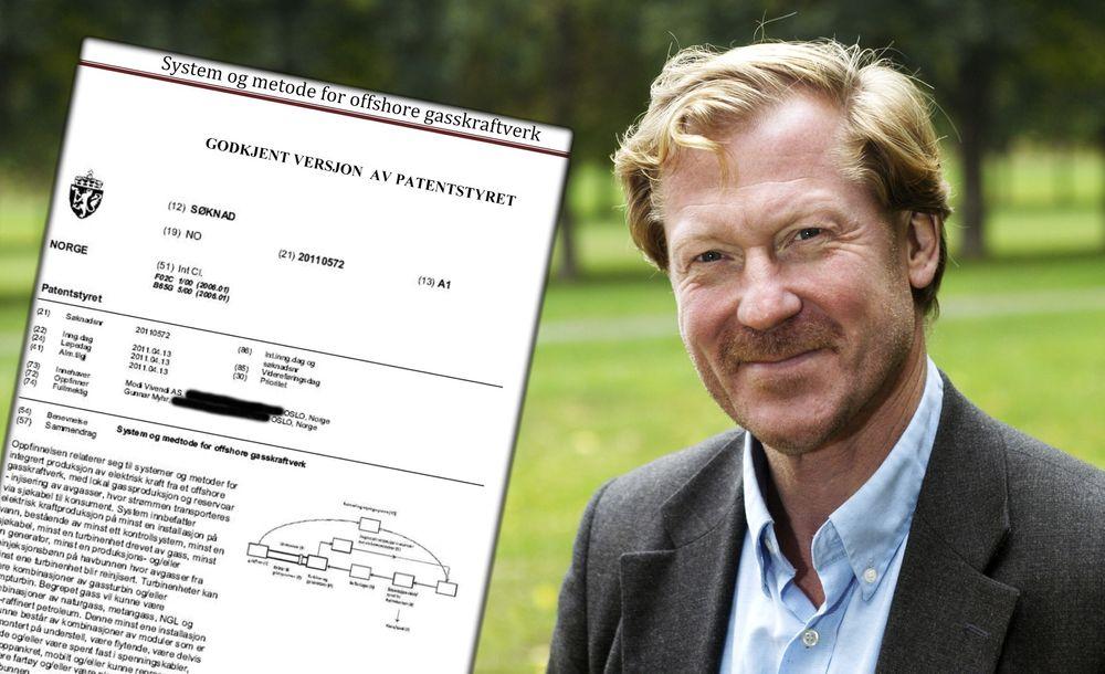 Gunnar Myhr patent System og metode for offshore gasskraftverk