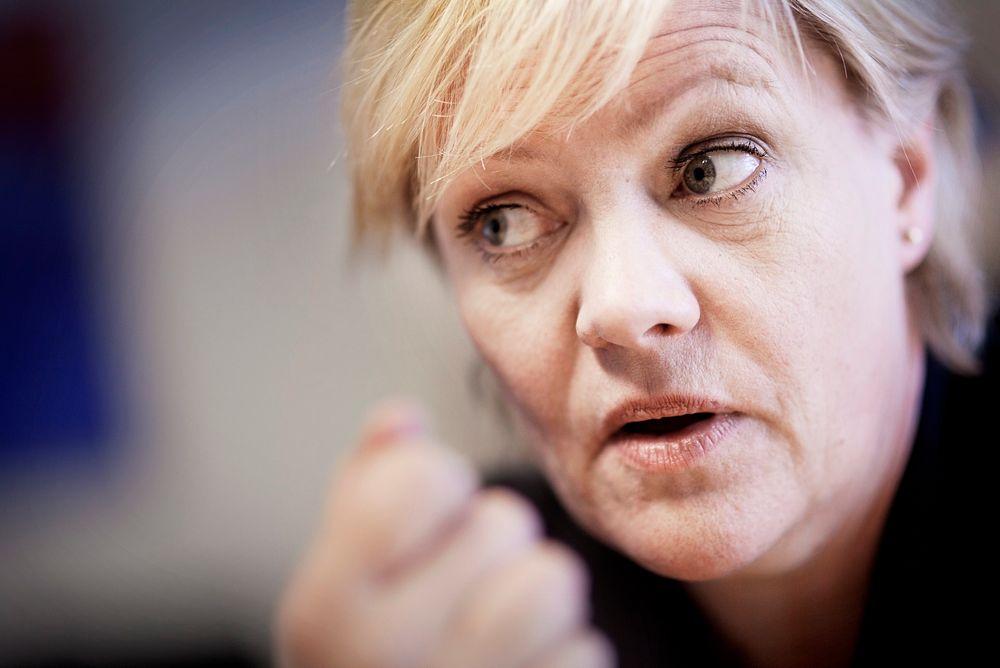 VIKTIG: Kunnskapsminister Kristin Halvorsens viktigste oppgave nå er å sørge for flere studieplasser. FOTO: Håkon Jacobsen