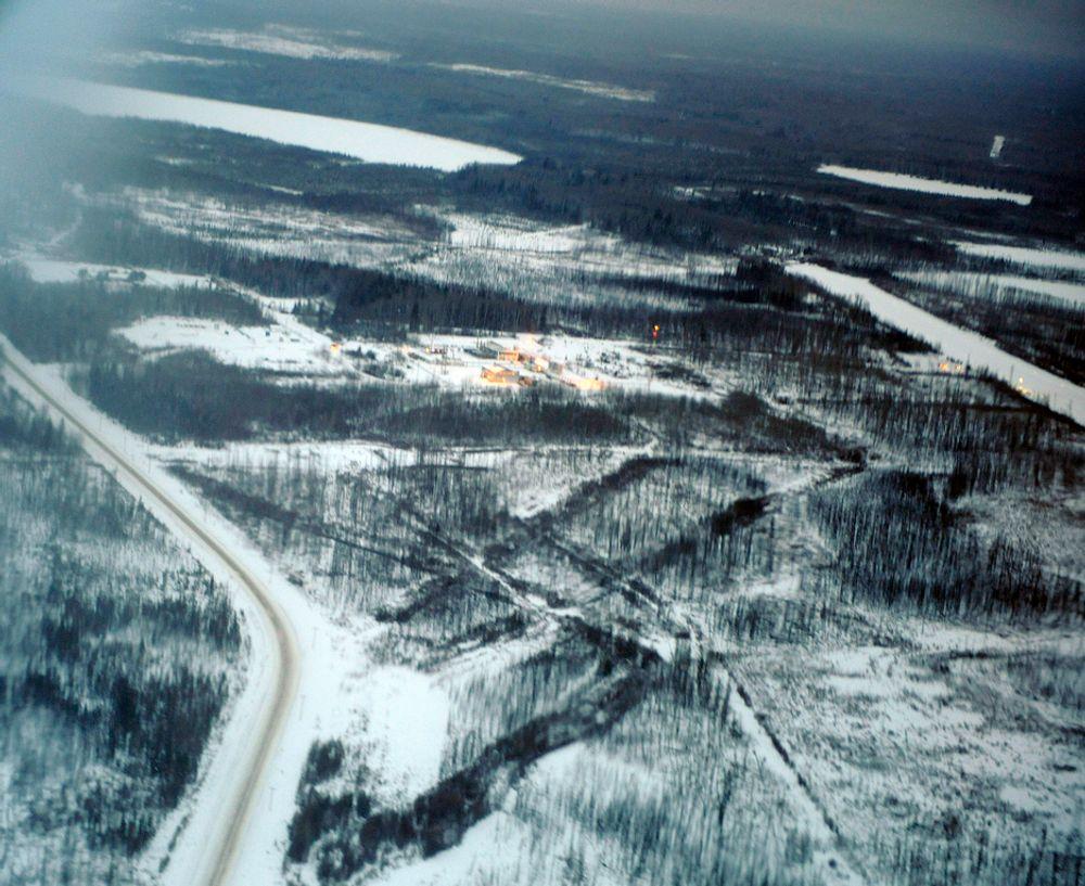 STORT: Her, i Athabasca-regionen i Alberta, forbereder StatoilHydro nå oppstarten av det de håper vil bli et nytt oljeeventyr.