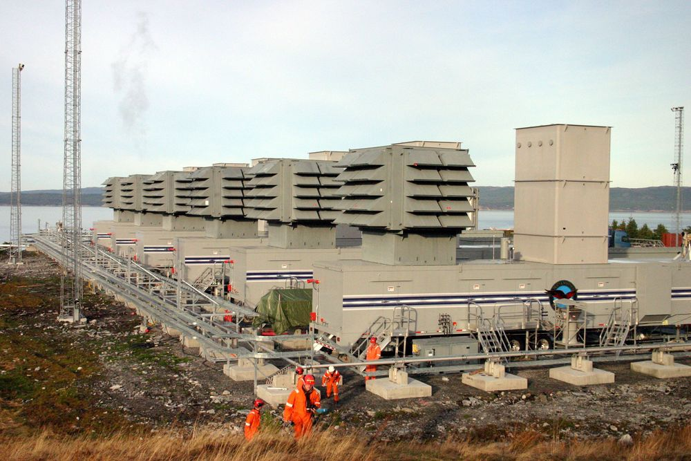 ØKTE UTSLIPP: Statnetts reservegasskraftverk på Tjeldbergodden  doblet sine CO2-utslipp fra 2010 til 2011.