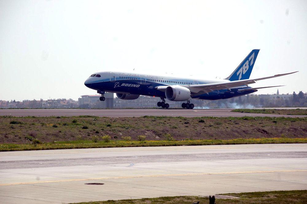 Dette B787-flyet, ZA003, kommer til Oslo lufthavn Gardermoen og halvannen måned.