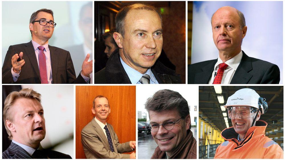 Svein Richard Brandtzæg, Christian Wilhelm Rynning-Tønnesen, Ole Jørgen Haslestad, Claus True Hougesen, Martin Tiffen, Herlof Nilssen og Steinar Våge er blant teknologene som leder Norges største virksomheter.
