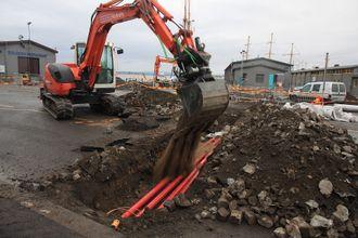 Vippetangen i Oslo skal nå få landstrøm. Allerede i 2012 ble trekkerør lagt i bakken ved Festningskaia.