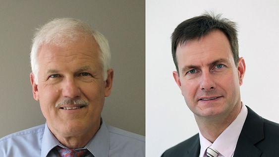 Lydhoder: Ekspertene på digital komprimert lyd fra tyske Fraunhofer, Hans-Peter Baumeister (t.v.) og Manfred Lutsky, vil at deres nye lydkodek skal bli den vi alle skal bruke i fremtidens 4G-mobiltelefoner
