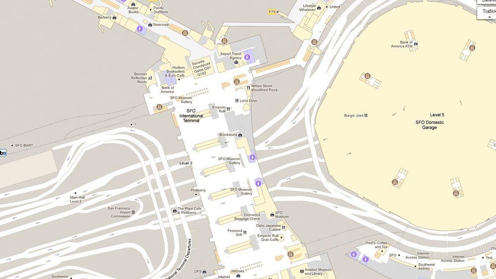 Her kan du planlegge neste shoppingraid på San Francisco International Airport.