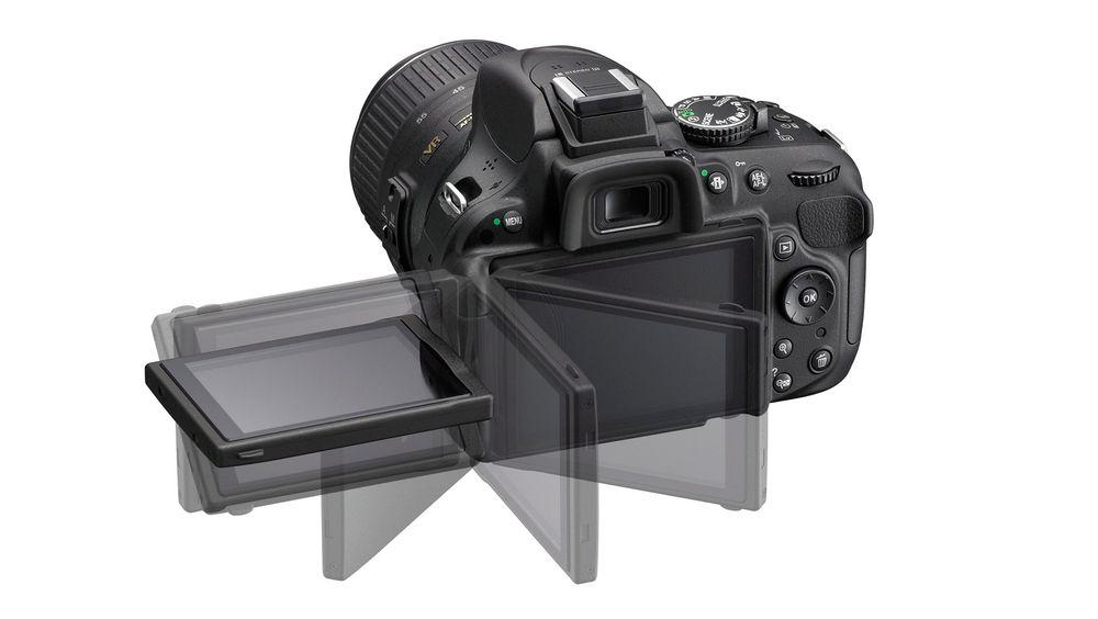 Fleksibel søker: En tretommers søker som kan vris og vrenges gjør det lettere å ta bilder og video.