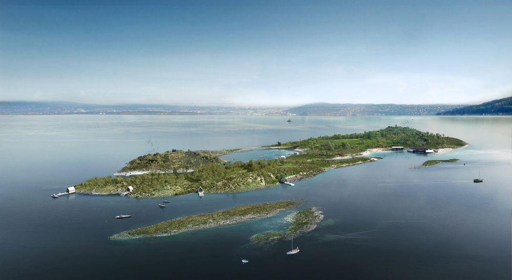 Illustrasjonsbildet heter Østerøy, og er et av flere utformingsforslag Oslo havn har hentet inn i forbindelse med ideen.