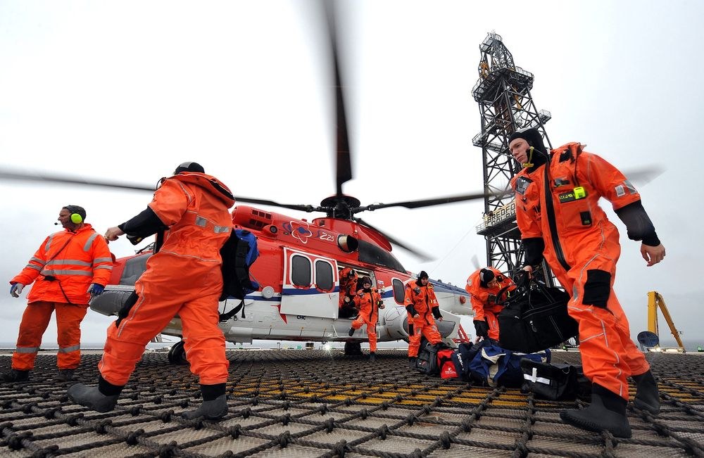 Her er et av EC225-helikoptrene til CHC Helikopter Service.
