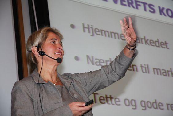 Anne Jorunn Møkster i Simon Møkster Shipping. Bygger skip helst ved verft som har lange tradisjoner og høy faglig stolthet.