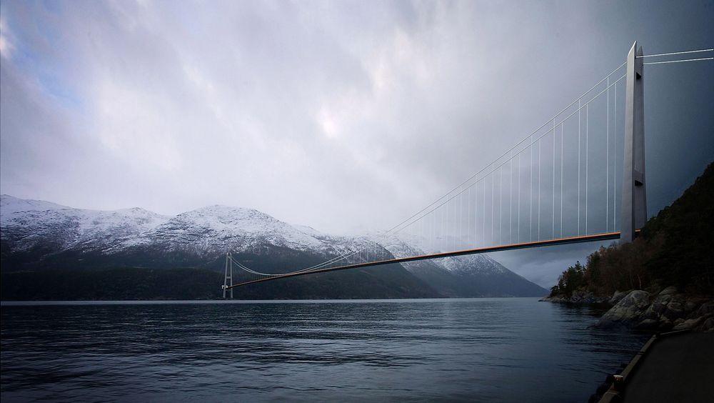 Statens Vegvesen foreslår en ny hengebru over Hardangerfjorden, men denne gangen ved Jondal.
