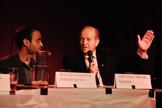 VISTE ENGASJEMENT: Abdullah Alsabeehg, Arbeiderpartiet, medlem av Miljø- og samferdselskomiteen i Bystyret, og Odd Einar Dørum, Venstre, medlem av Miljø- og samferdselskomiteen i Bystyret.