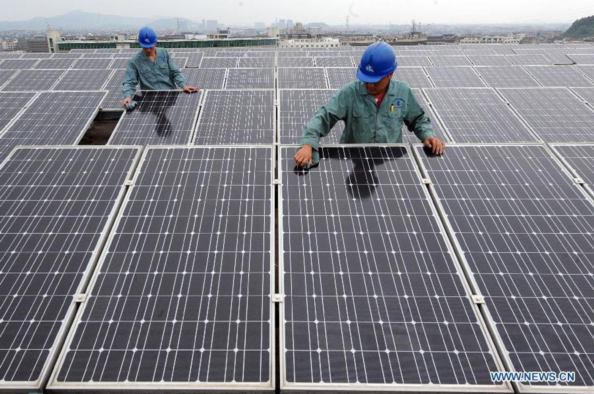 Kina mener at kinesisk solindustri rammes hardt av de vestlige antidumpingtiltakene.