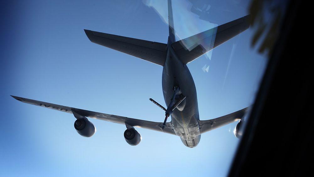 Norge deltar i et samarbeid om felles anskaffelse og drift av tank- og transportfly. Her fra en øvelse med NATOs AWACS-fly.