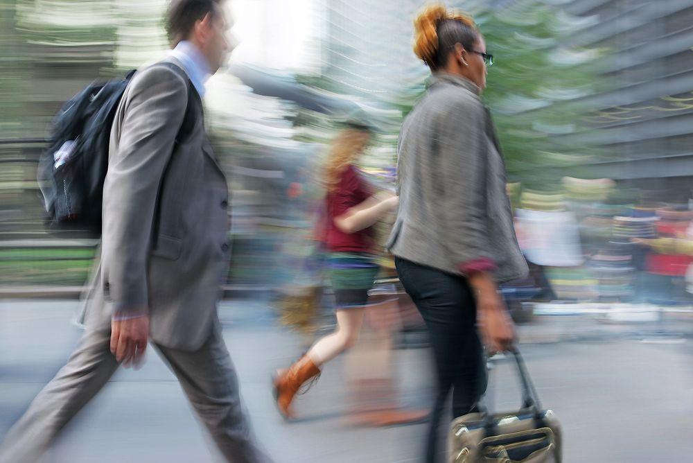 BRUKER BEINA: Unge amerikanere ønsker i økende grad å ha gåavstand til jobb, butikker og metro.