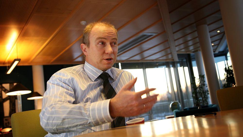 Konsernsjef Christian Rynning-Tønnesen i Statkraft må konstatere et negativt driftsresultat i tredje kvartal.