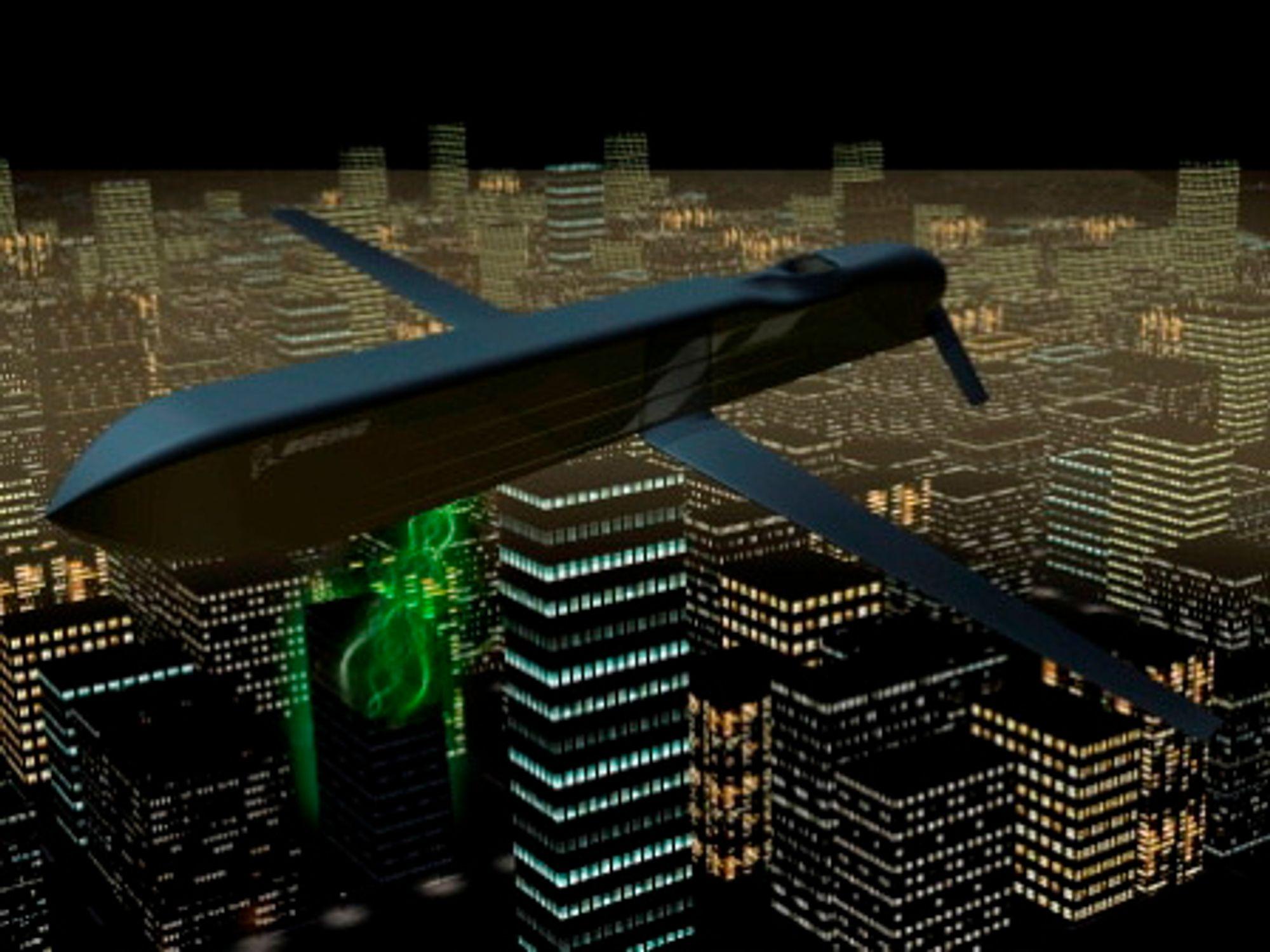 Boeings eksperimentelle CHAMP-missil, kan ifølge produsenten slå ut elektroniske systemer med mikrobølger.