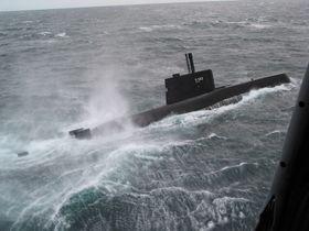 Her er den norske Ula-klasse ubåten Utstein.